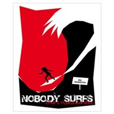 Nobody Surfs Like a Florida Girl Framed Print