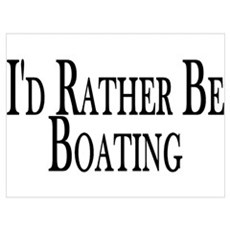 Rather Be Boating Framed Print