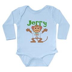 Little Monkey Jerry Long Sleeve Infant Bodysuit