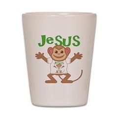 Little Monkey Jesus Shot Glass