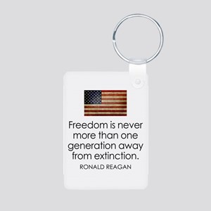 Freedom is never more... Aluminum Photo Keychain