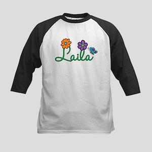 Laila Flowers Kids Baseball Jersey