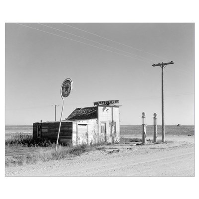 Abandoned Texaco Station, 1937 Poster