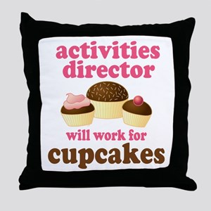 Funny Activities Director Throw Pillow