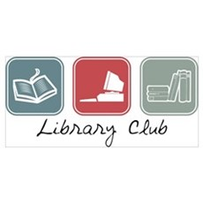 Library Club (Squares) Canvas Art
