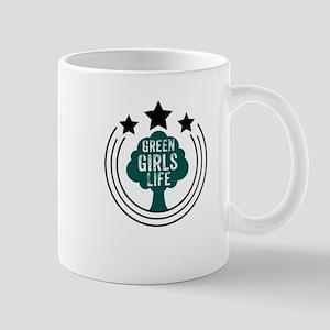 Green Girls recycle eco friendly women activi Mugs