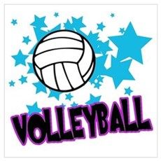 Volleyball Stars Poster