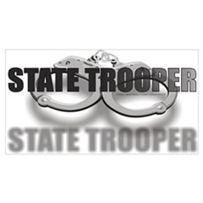 STATE TROOPER Framed Print