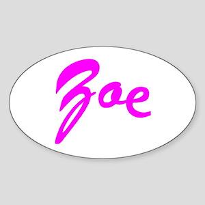 Cursive Curve Zoe Oval Sticker