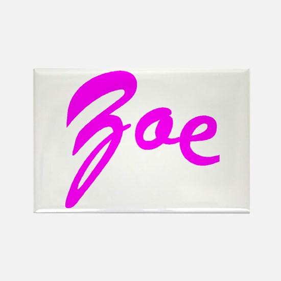 Cursive Curve Zoe Rectangle Magnet