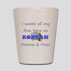 I waste all my time on Korean Shot Glass