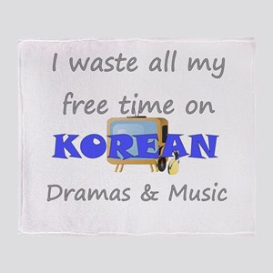 I waste all my time on Korean Throw Blanket