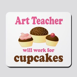 Funny Art Teacher Mousepad