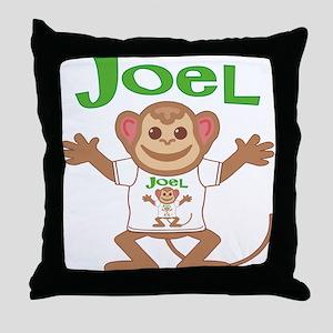 Little Monkey Joel Throw Pillow