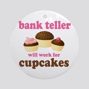 Funny Bank Teller Ornament (Round)