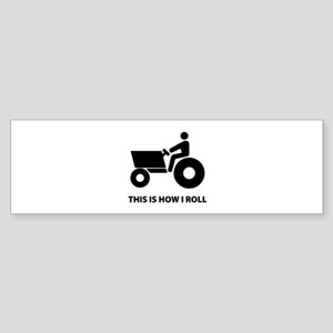 How I Roll Sticker (Bumper)