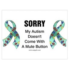 Autism Sorry Canvas Art