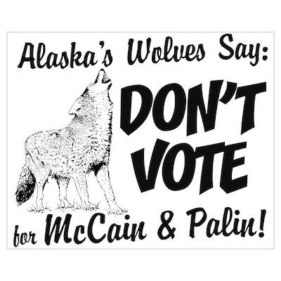 Wolves Say No Poster