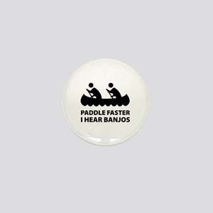Paddle Faster Mini Button