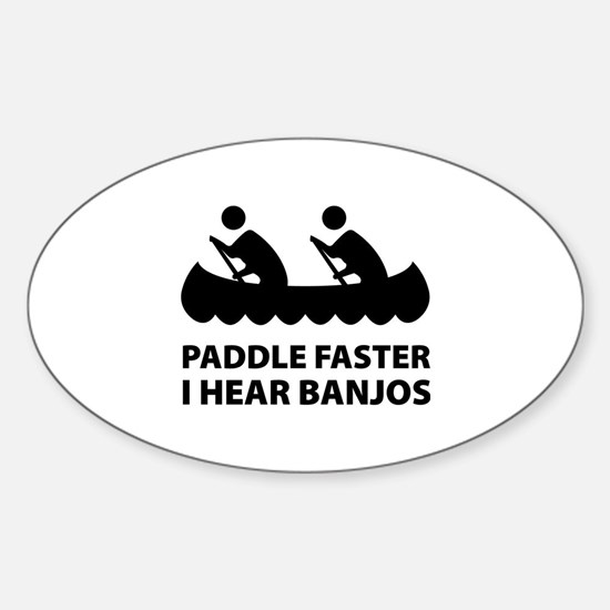 Paddle Faster Sticker (Oval)