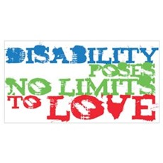 Disability + Love Framed Print