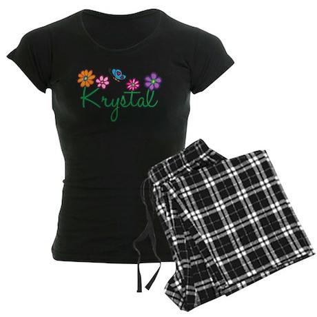 Krystal Flowers Women's Dark Pajamas