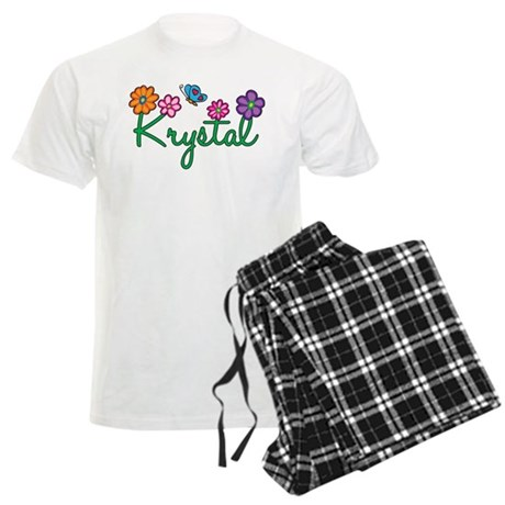 Krystal Flowers Men's Light Pajamas