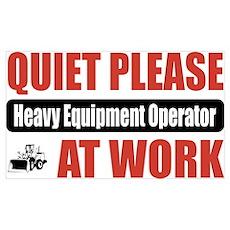 Heavy Equipment Operator Work Poster