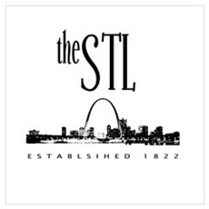 the STL (black print) Framed Print