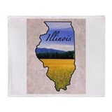 Illinois Fleece Blankets