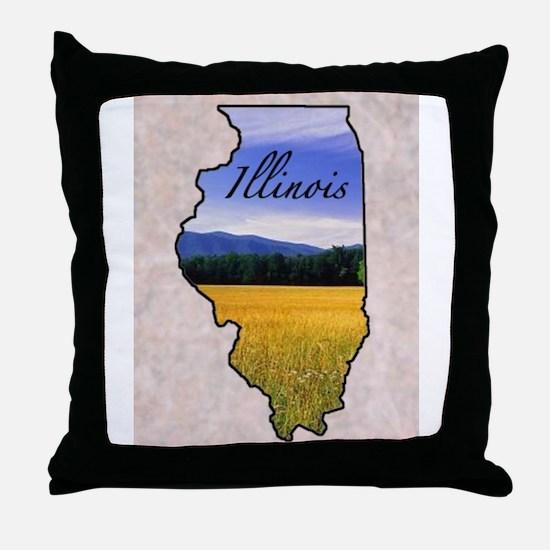 Cute Illinois Throw Pillow