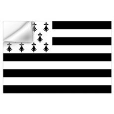 Brittany flag Wall Decal