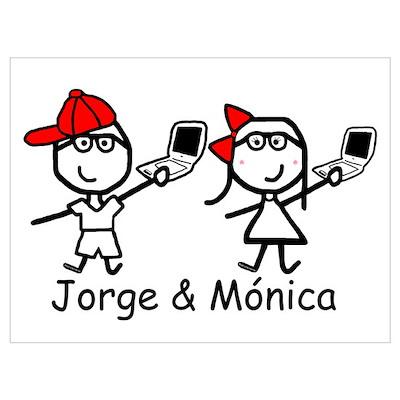 Laptops - Jorge & Monica Poster