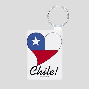 Heart Chile (World) Aluminum Photo Keychain