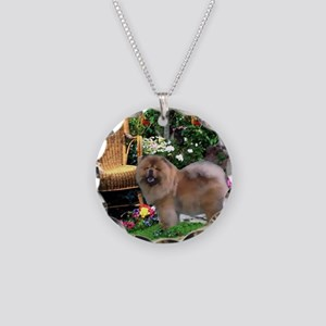 Chow Chow Art Necklace Circle Charm