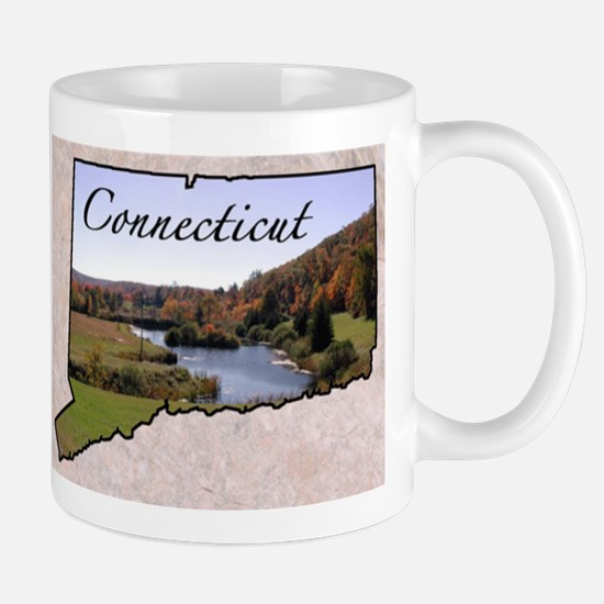 ConnecticutMap28 Mugs