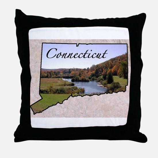 Cute Connecticut Throw Pillow