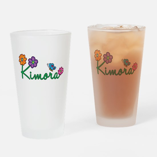 Kimora Flowers Drinking Glass