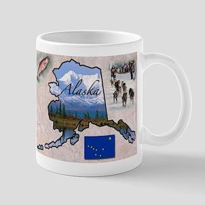 AlaskaMap28 Mugs