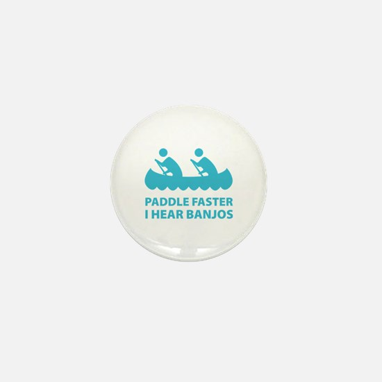 Paddle Faster Mini Button (10 pack)