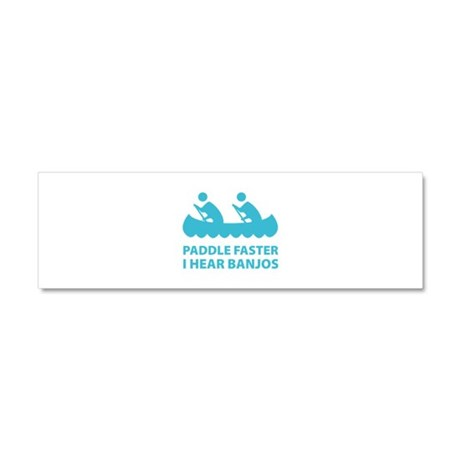 Paddle Faster Car Magnet 10 x 3