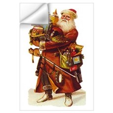 Vintage Santa with Gifts Wall Decal