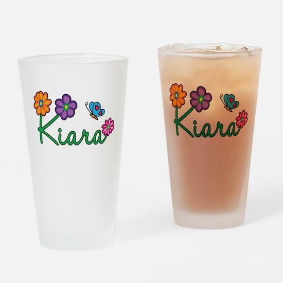 Kiara Flowers Drinking Glass
