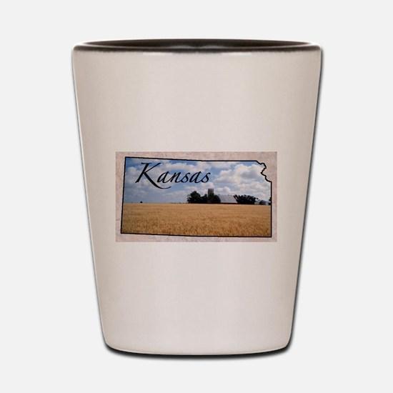 Cute Kansas Shot Glass