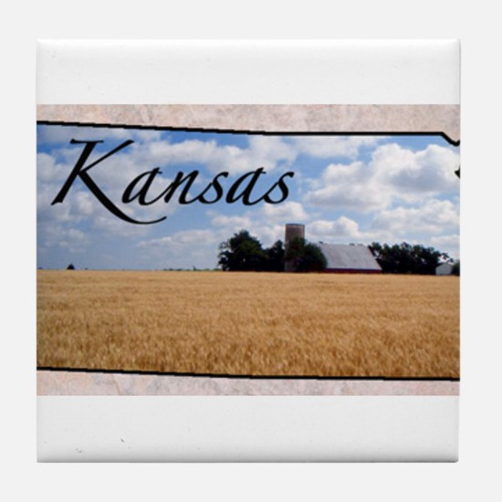 Cute Kansas Tile Coaster
