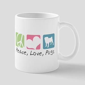 Peace, Love, Pugs Mug