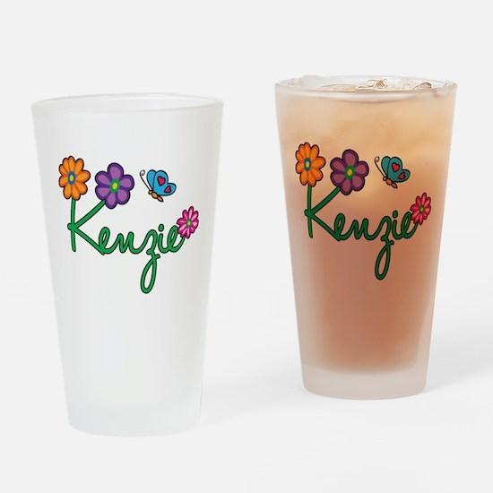 Kenzie Flowers Drinking Glass