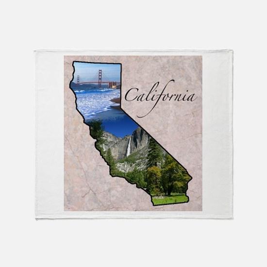 Cute California state Throw Blanket