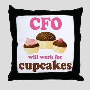 Funny CFO Throw Pillow