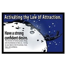 Activating the law of attraction Poster